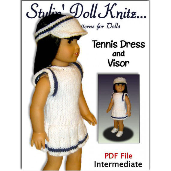 Knitting Patterns for doll clothes, Sports Package, Fit American girl Doll, 18 inch. 05 - product images  of