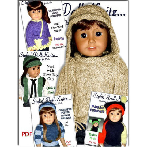 Knitting,patterns.,Sweaters,,Fit,18,inch,and,American,Girl,Doll.,PDF,02,Patterns,doll_clothing,handmade,american_girl_doll,18_inch_dolls,toys,children,gifts,kids,knitting_supplies,girls,dolls,doll,knitting_patterns,pdf,patterns