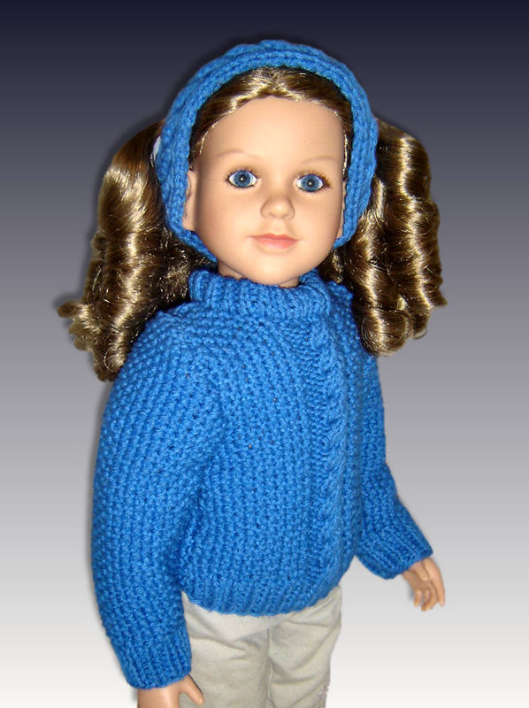 Knitting Pattern fits My Twinn, 23 inch dolls. Cabled ...