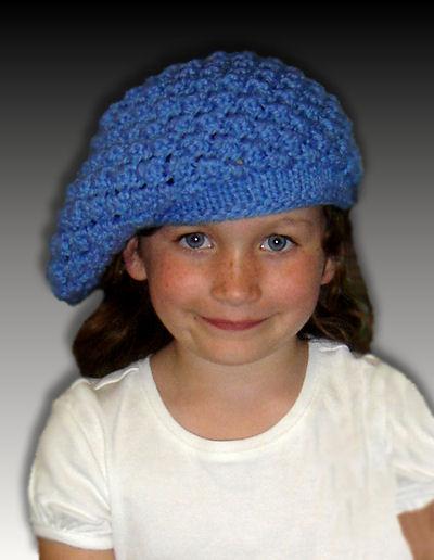 Girls Slouchy Hat Knitting Pattern. 1307 - product images  of