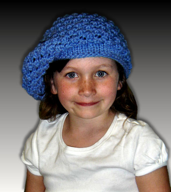 Girls Slouchy Hat Knitting Pattern. 1307 - StylinDollKnitz