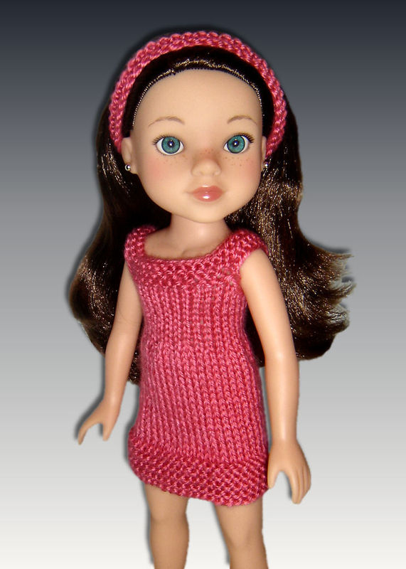 Doll Dress Knitting Pattern Fits Hearts For Hearts 14 Inch Dolls