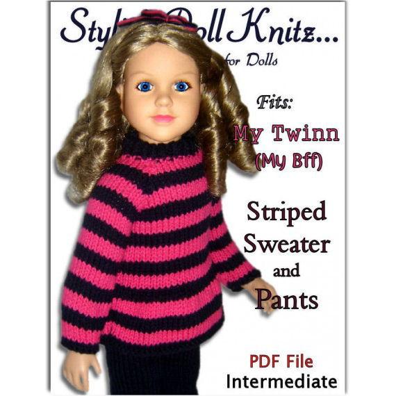 Doll Clothes Knitting Pattern Fits My Twinn My Bff0 23 Inch Dolls