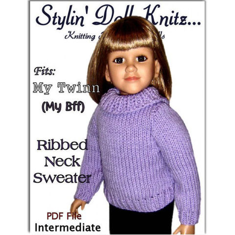 Knitting,Pattern,fits,My,Twinn,(My,BFF),,23,inch,dolls.,PDF,,649,knitting pattern,doll clothes,My BFF, My Twinn Doll,23 inch dolls,sweater pattern,knit clothes,knitting tutorial,stylindollknitz