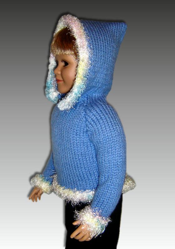 PDF Knitting Pattern fits My Twinn (My BFF), 23 inch dolls. Hoodie, 647 - Sty...