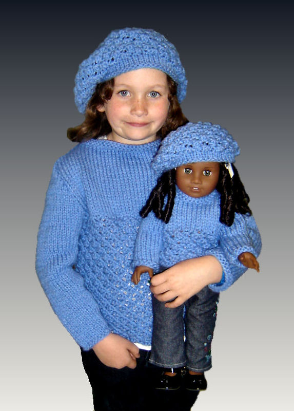 "Knitting Patterns, matching girls, and dolls, American Girl, 18"" inch PDF 543 - product images  of"