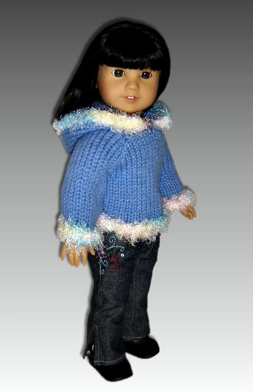 Knitting Pattern Doll Hoodie Fits American Girl And 18 Inch Dolls