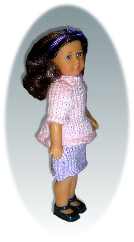 Knitting Patterns for American Girl Mini Doll, 6.5 inch, 99 - StylinDollKnitz