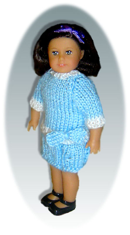 Knitting Patterns For 5 Inch Dolls : Knitting Patterns for American Girl Mini Doll, 6.5 inch ...