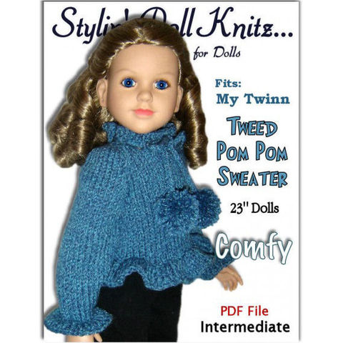 Knitting,Pattern,,fits,My,Twinn,and,23,inch,dolls.,(my,BFF),PDF,,650,Patterns,Doll_Clothing,pdf_knitting_pattern,diy_doll_clothes,My_twinn_doll,My_BFF_doll,23_inch_doll,sweater_pattern,doll_hat_pattern,knit_instructions,my_twin_clothing,Stylin_Doll_Knitz,knitting,pattern,tweed_Sweater,knitting pattern,PDF pattern