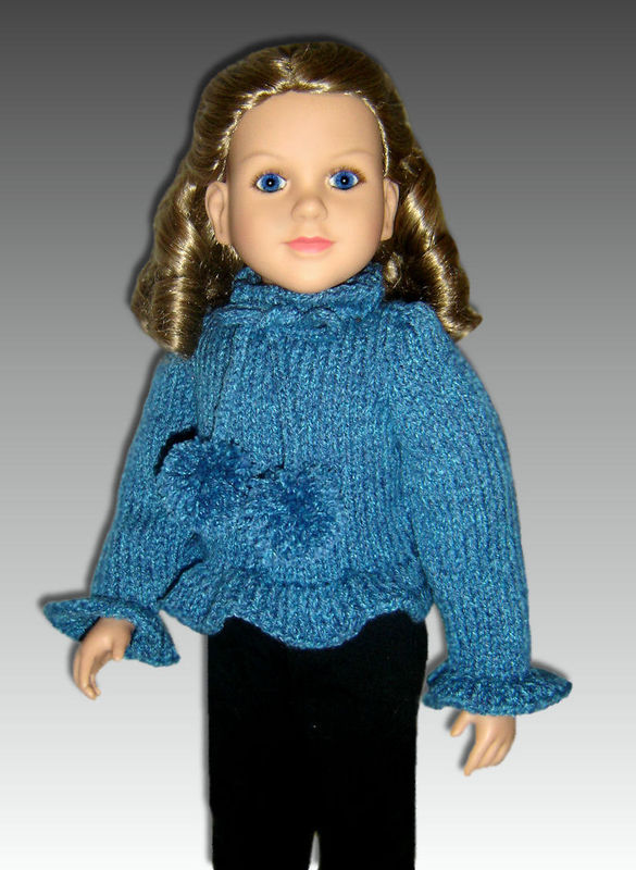 Knitting Pattern, fits My Twinn and 23 inch dolls. (my BFF)  PDF, 650 - product images  of