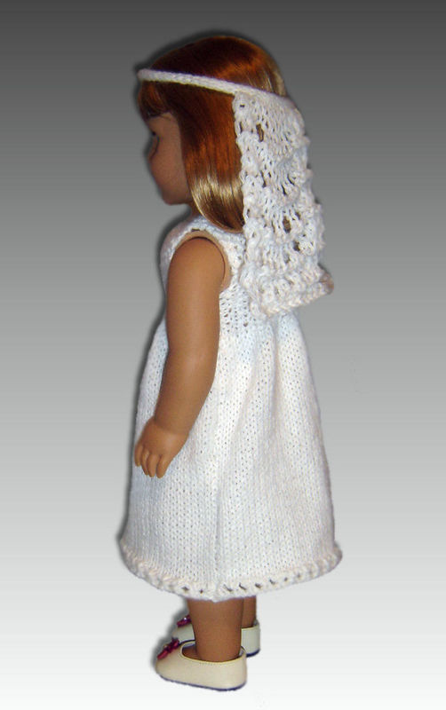 Knitting Pattern for Communion Dress, fits American Girl ...