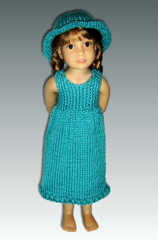 Knitting Pattern fits Kidz n Cats Dolls. Sun Dress and Hat. PDF, 452 - product images  of