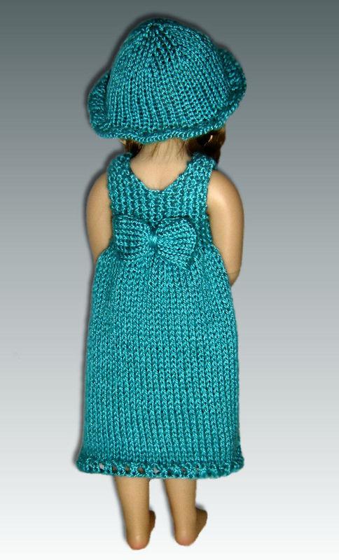 Knitting Pattern fits Kidz n Cats Dolls. Sun Dress and Hat ...