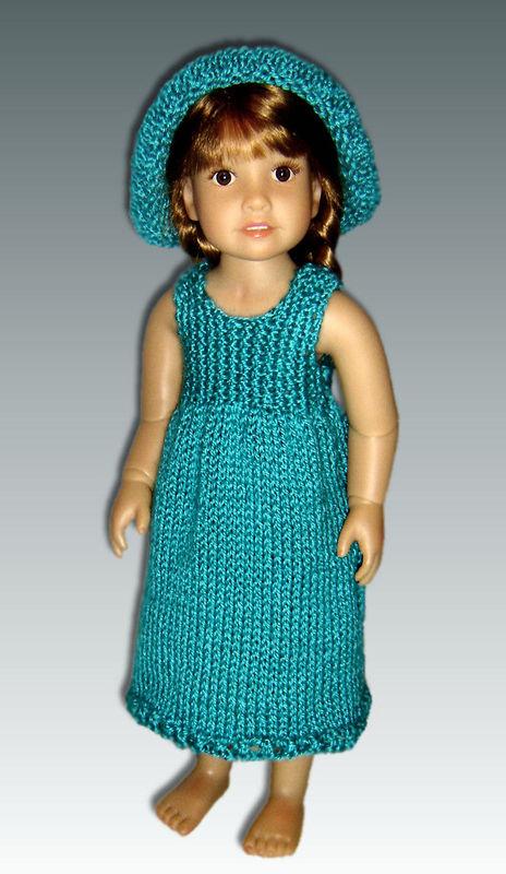 Knitting Patterns For Kidz N Cats Dolls : Knitting Pattern fits Kidz n Cats Dolls. Sun Dress and Hat ...