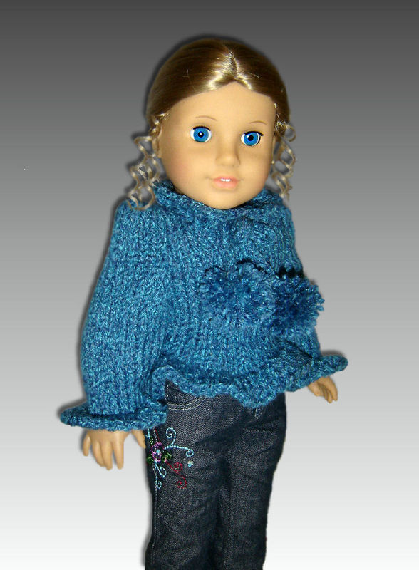 Knitting Pattern 18 Doll Sweater : Knitting Pattern For American Girl Doll. Sweater, 18 inch. 050 - StylinDollKnitz