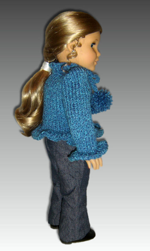 Knitting Patterns For 24 Inch Dolls : Knitting Pattern For American Girl Doll. Sweater, 18 inch ...