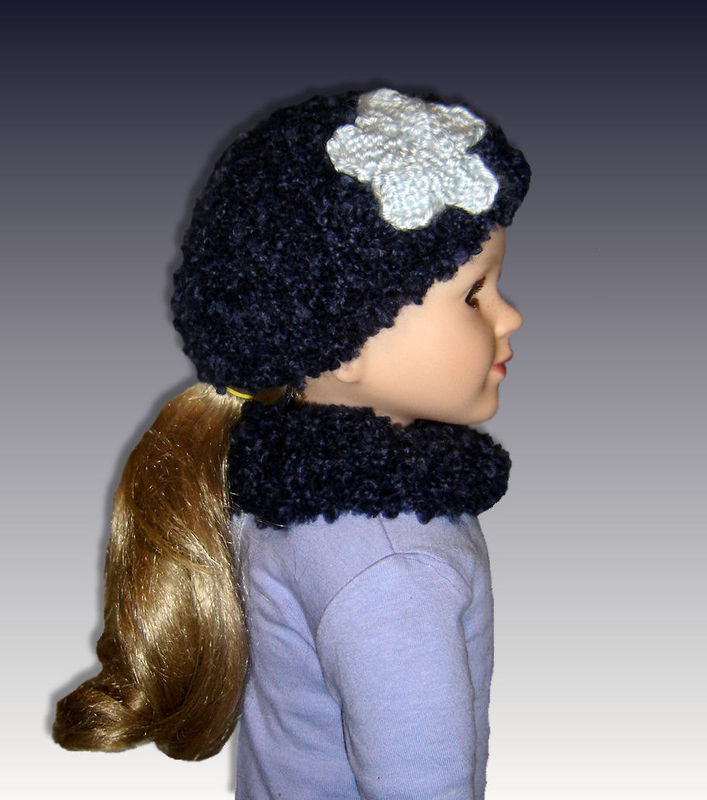 Knitting Pattern For Dolls Beanie : PDF Knitting Pattern, Beanie Hat and Neck Warmer, My Twinn. 23 inch doll 1602...