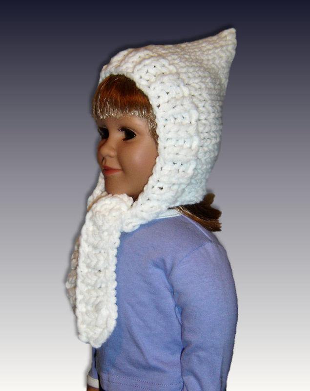 PDF Knitting Pattern, Pixie Hat, Scarf Combo, My Twinn. 23 inch doll 1606 - S...