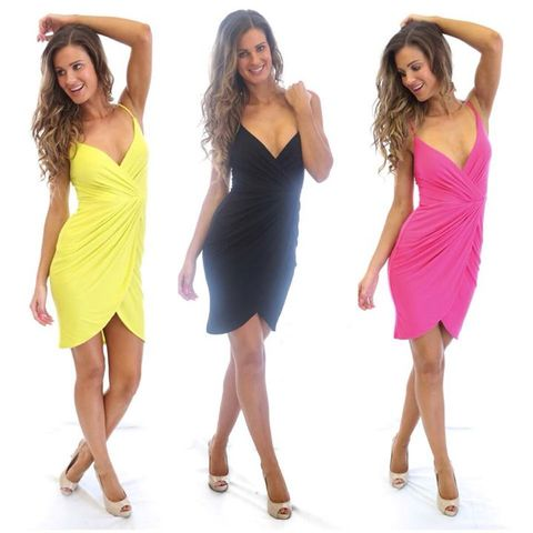 Malibu,Stacey,Dress,singlet dress pink black wedding casual stretch summer beach citrus Chartreuse