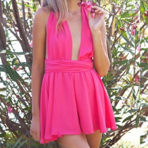 CRUZ,Playsuit,-,Fuchsia,multiway playsuit celebrity inspired fashion ootd ootn fashion blogger boutique perth Melbourne sydney