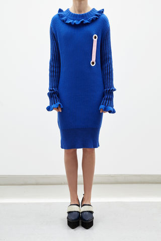 NEW,IN,STOCK:,LIN,CASHMERE,T-SHIRT,DRESS,(BLUE)