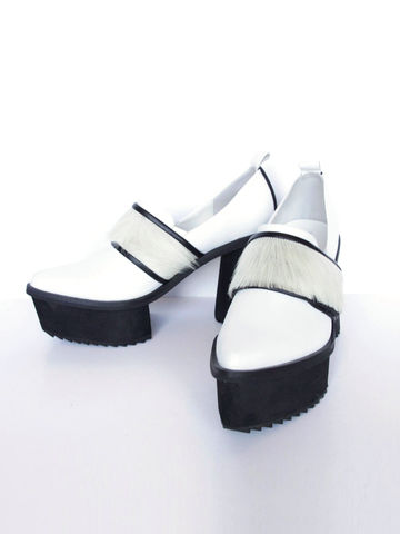 NEW,IN,STOCK:,TUVA,CHUNKY,LEATHER,HIGH,HEEL,(WHITE),Tuva Chunky, High heel, Platform, Comfortable, SS16, Leather shoes