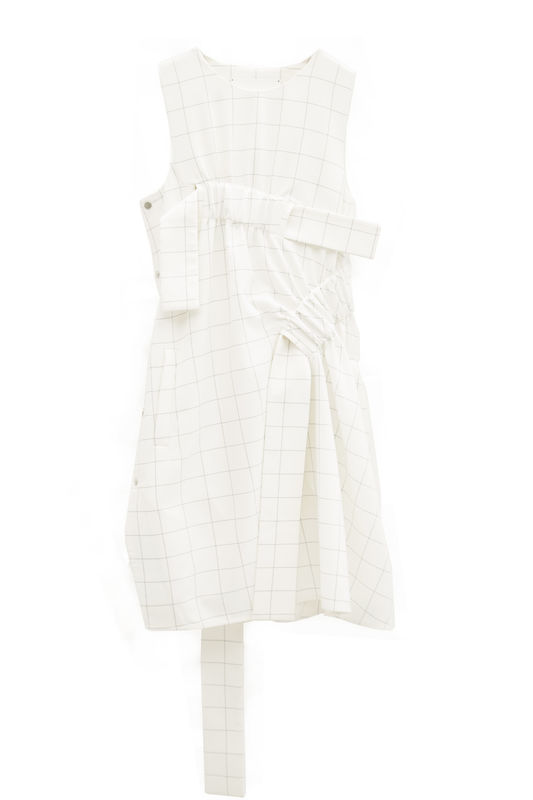 JS17D02- CHECK ESTHER DRESS - product image