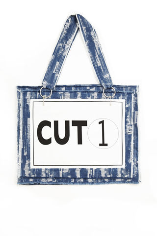 JS17B02-,CUT,1,BAG,Jamie Wei Huang, SS17, The Kool Kids, Spring Summer, Bag, Blue Denim, CUT 1 BAG