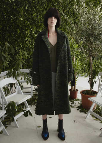 JW17C01,-,MOLLY,COAT,Jamie Wei Huang, AW17, Autumn Winter, Wool, Coat, MOLLY COAT, Moss Green