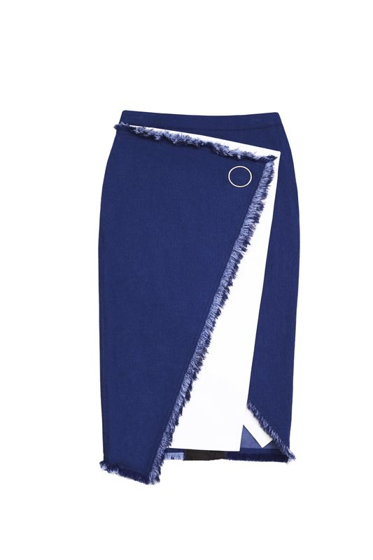 JS17SK01- CLAIRE OVERLAPPING SKIRT - product image
