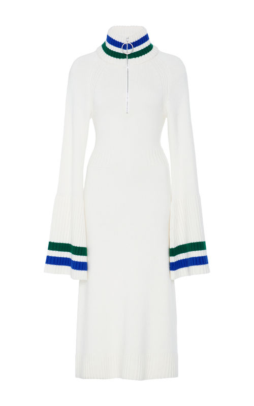 JW17KD01 - CASHMERE BELL SLEEVE DRESS - product image