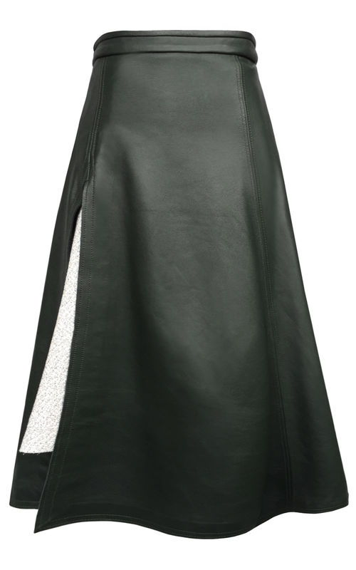 JW17SK01 - TANYA LEATHER SKIRT - product image