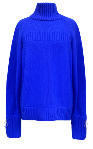 JW17KT03,-,CASHMERE,TURTLE,NECK,JUMPER,Jamie Wei Huang, AW17, Autumn Winter, Turtle Neck, Jumper, CASHMERE TURTLE NECK JUMPER, Blue,  Cashmere, Knitwear