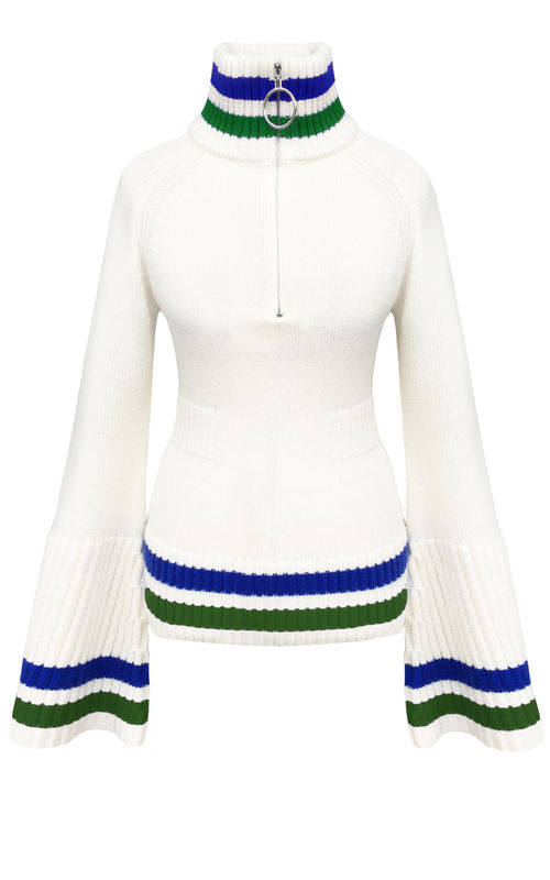 JW17KT02 - CASHMERE BELL SLEEVE TOP - product image