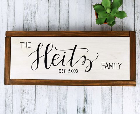 Personalized,Familiy,Name,Established,Sign,,Custom,Family,Wooden,Wall,Decor,Framed family name sign, Rustic last name decor Wall Hanging personalized custom sign hand painted