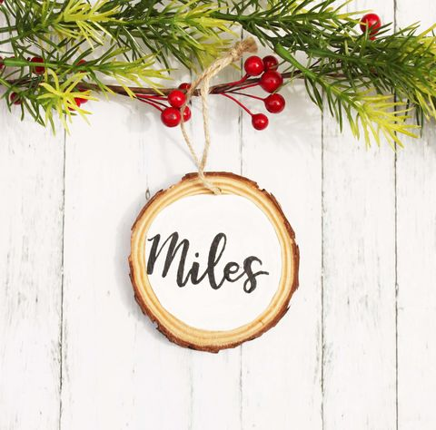Personalized,Rustic,Wood,Slice,Christmas,Ornament,rustic ornament, wood slice ornament, personalized ornament, christmas ornament, tree ornament, name ornament