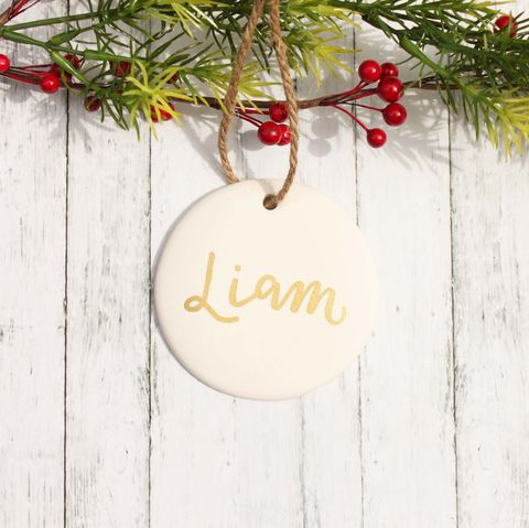 Personalized,Ceramic,Christmas,Ornament,with,Your,Name,ceramic ornament, white ornament, White and gold christmas,  personalized ornament, christmas ornament, tree ornament, name ornament