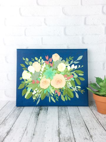 Custom,Wedding,Bouquet,Painting,,Bride,Keepsake,,Floral,Canvas,Art,wedding bouquet custom painting canvas art acrylic floral flower bride keepsake