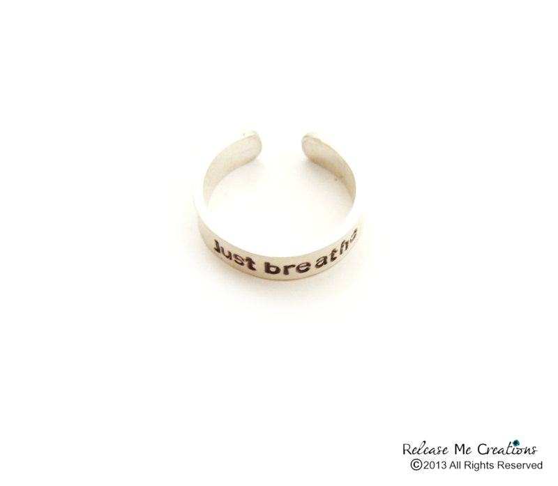 Sterling SIlver Just Breathe Meditate Ring - product image