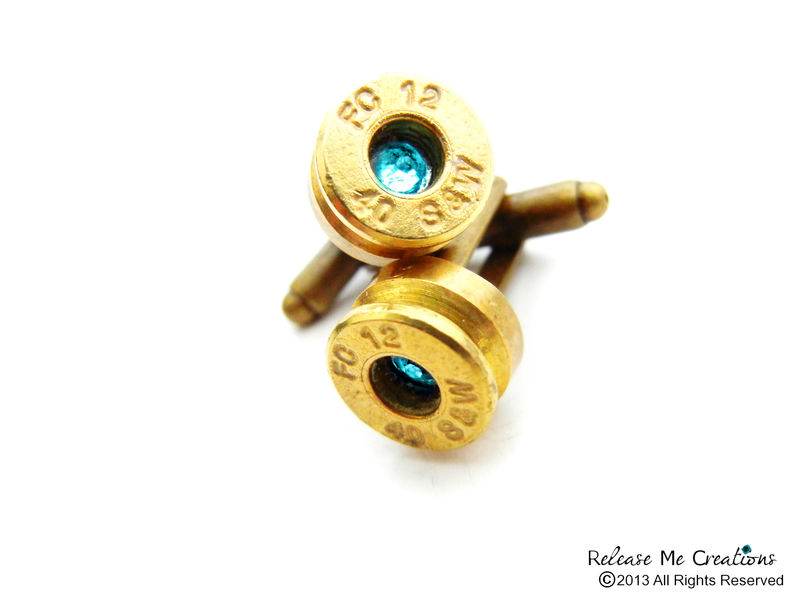 Swarovski Bullet Bling Cufflinks for Him Birthstones - product image