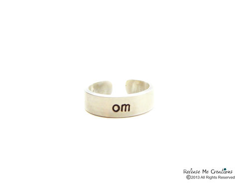Sterling,Silver,Meditate,Om,Ring,sterling silver ring, om, meditate, zen jewelry, yoga ring, for her, gift