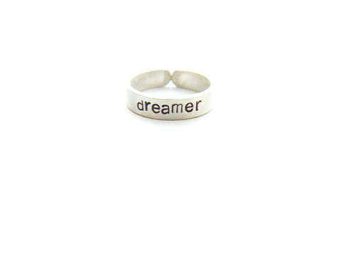 Sterling,Silver,Dreamer,Ring,sterling silver ring, dreamer, zen jewelry, graduation gift, for her, gift, john lennon, imagine