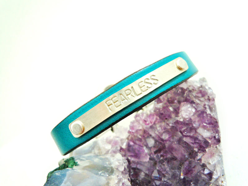 Positive Mantra Leather Cuff Fearless Dreamer Just Breathe - product image