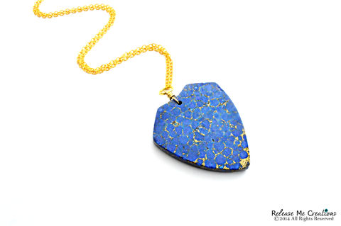 Lapis,Lazuli,Shield,Necklace,lapis lazuli, shield, crest, geometric, for her, necklace, blue, gold, pyrite, long necklace, boho, chic, fashion