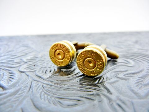 Winchester,Smith,&,Wesson,Bullet,Cuff,Links,cufflinks, cuff link, for him, bullet, nra, winchester, smith & wesson, gift, accessories, groomsmen, groom