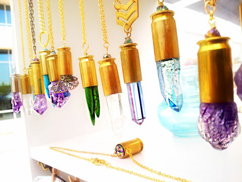 RESERVED:,CUSTOM,Rifle,Bullet,Casing,Amethyst,Aura,Necklace