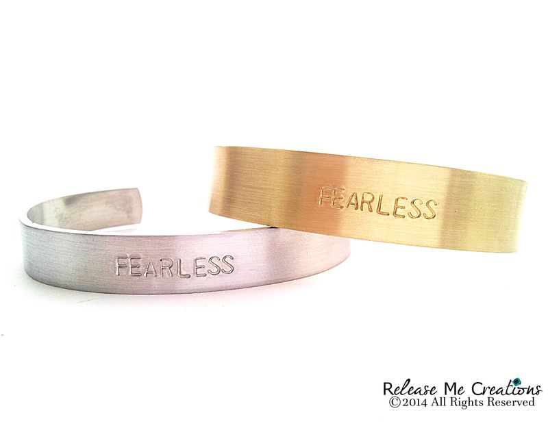 Fearless Cuff Bracelet Bangle - product image