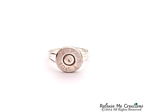 Smith,&,Wesson,Silver,Bullet,Ring,bullet ring, bullet jewelry, smith and wesson jewelry, for her, ring, police, military, nra