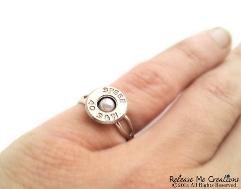 Pearl,Bullet,Silver,Ring,Smith,and,Wesson,silver, bullet, ring, pearl, swarovski, bride, bridesmaid, outdoor, smith and wesson